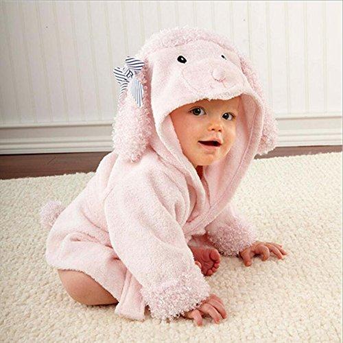 Accappatoio bambino tovagliolo di bagno per Bambini in cotone Coperte 0-1years camicia da notte Coated (cani)