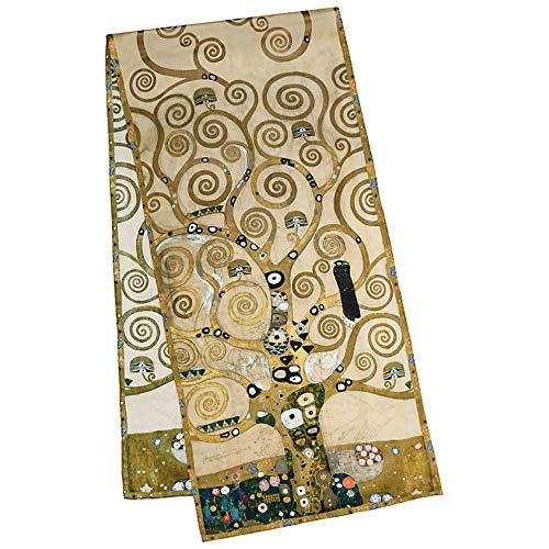 VON LILIENFELD Seidenschal Damen Satin lang Kunst Motiv Gustav Klimt: Lebensbaum