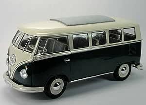 VW T1 Bus Fensterbus 1963 orange beige Modellauto 1:18 Welly