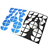 Finest-Folia 4D Carbonfolie Emblem Ecken Aufkleber (Blau Chrom)