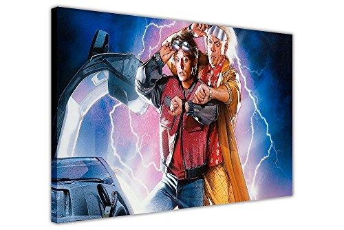 Zurück in die Zukunft 2Film Poster gerahmt Kunstdruck auf Leinwand Art Wand Raum Dekoration Bilder Film Bezüge, canvas holz, 08- A0 - 40