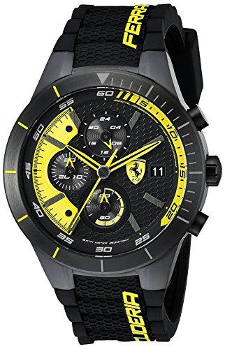 Ferrari Hombre 0830261redrev EVO analógico Negro Reloj de Cuarzo japonés