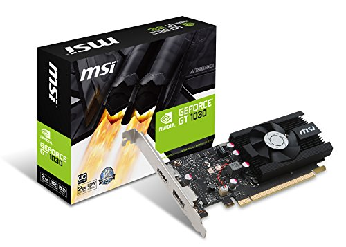 MSI GT1030 2G LP OC Carte Graphique Nvidia GeForce GT 1030 1265 MHz 2 Go PCI Express 3.0