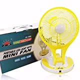 #9: Citra Jr-5580 New Model Powerful Rechargeable Table Fan With 21Smd Led Lights, Assorted