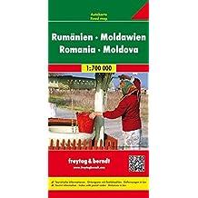 Rumänien. Moldau 1 : 700 000. Autokarte (Freytag u. Berndt Stadtpläne/Autokarten): Touristische Informationen. Citypläne. Ortsregister mit Postleitzahlen (Country Mapping)