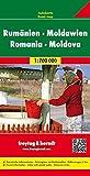 Rumänien. Moldau 1 : 700 000. Autokarte (Freytag u. Berndt Stadtpläne/Autokarten): Touristische Informationen. Citypläne. Ortsregister mit Postleitzahlen (Country Mapping) - Freytag-Berndt und Artaria KG