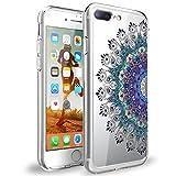 Caler Coque iPhone 8 Plus / 7 Plus, Transparente Silicone Souple TPU Anti-Rayures Anti-Choc Protection Ananas Cactus Fleur Mauve Motif Coque Etui Housse Apple iPhone 7 Plus / 8 Plus 5.5' (1)