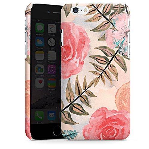 Apple iPhone X Silikon Hülle Case Schutzhülle Flower Vintage Blätter Premium Case matt