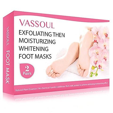 2 Pairs Vassoul Foot Peel Mask, Feet Callus Remover & Dead Skin Remover--Moisturizing and Whitening