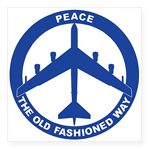 CafePress - B-52H Peace Sign Square Sticker 3