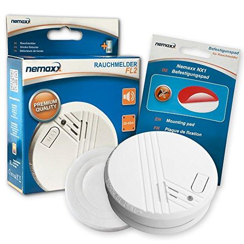 Nemaxx 1FL2NX1 FL2 Rauchmelder + 1x NX1 Quickfix Magnet, 1 Stück