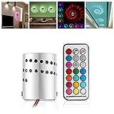 Pared mando a distancia–Lámpara LED de pared moderna lámpara de aluminio hueca Cilindro RGB 3W Techo de techo (AC 85–265V RGB