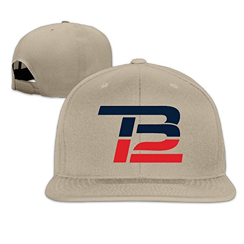 Hittings Unisex Brady Comeback TB12 Flat Baseball Cap Adjustable Snapback Natural par  Hittings