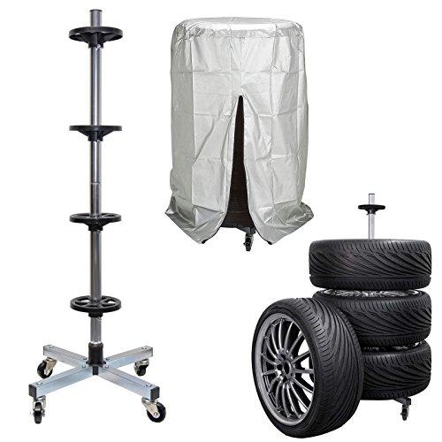 ARCS Europe GmbH Carrello porta pneumatici con ruote e telo di protezione NUOVO MODELLO 2018