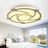 Iron Side Beleuchtung LED Deckenleuchte rundes Wohnzimmer Esszimmer Master-Schlafzimmer Originalität einfache Deckenbeleuchtung, weißes Licht 100cm