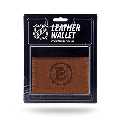 Unbekannt Rico Herren NHL Boston Bruins geprägtes Leder Trifold Wallet, Tan, 12,7x 7,6cm -