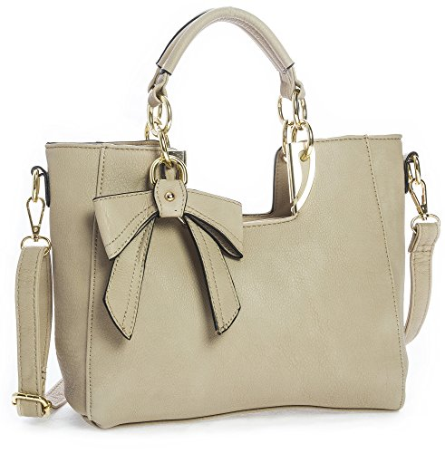 Big Handbag Shop - Borsa donna Beige (beige)