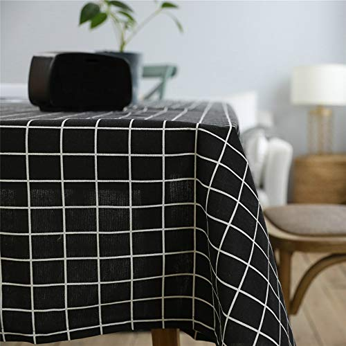 NQING Wohnzimmer Tischdecke Wasserdicht Ölbeständige Tischdecke Geometrisches Muster Für Haupttischdekor Einfache Waschung Rechteck Tischdecke C 60x60cm -