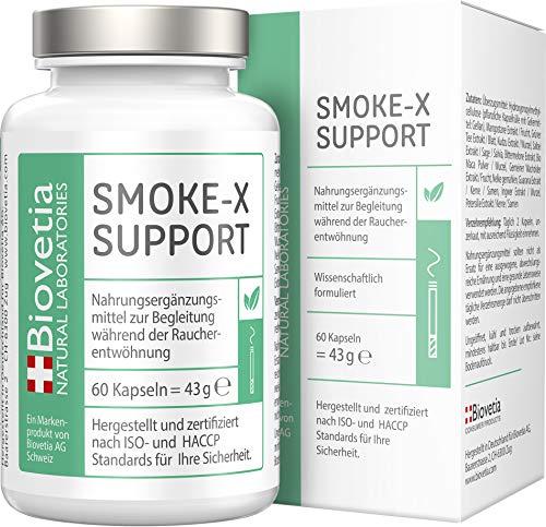 SMOKE-X Nichtraucher Kapseln, Rauchen aufhören und endlich Nichtraucher werden, Raucherentwöhnung formuliert von Suchtexperten, 60 Kapseln