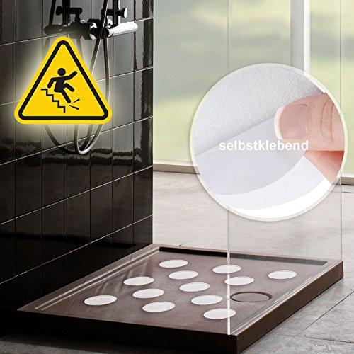 Nasszonen Klebepunkte -12 Stück Set - 10cm Durchmesser - Weiß