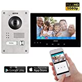 Neostar 2 Draht IP Video Türsprechanlage ✓ Smartphone App ✓ 7 Zoll Touchscreen Monitor ✓ Full HD Kamera ✓ 172° Weitwinkel-Kamera ✓ 2-Draht IP ✓ 1 Familienhaus ✓ Aufputz