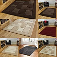 Modern Contemporary Quality Thick Beige Brown Cream Red Grey Soft Rug by Lord of Rugs