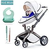 Hot Mom Pushchair 2016 - Sillita de paseo 3 en 1 (incluye moisés), color blanco