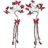 Die besten Bud Ohrringe - GTVERNH-Rot Juan Garn Blumen Hängende Ohren Tassel Ohrringe Bewertungen