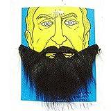 Dealglad ®-Costume per feste, motivo: Halloween-Finta barba nera per travestimento Cosplay baffi e il viso