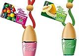 2 Stylisch-modische Air Natur Little Bottle Duftflakons Lufterfrischer Auto- und Raumduft 6ml - Duftsorte Bubble Gum - Kaugummi + Sweet Melo - Melone