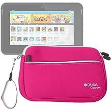 DURAGADGET Estuche / Funda De Neopreno Rosa Para La Tablet De Niños Kurio 7s - Con Bolsillo Exterior Para Guardar Más Objetos