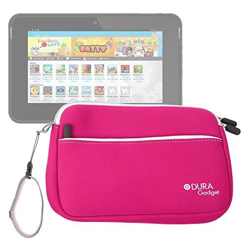 DURAGADGET Estuche/Funda De Neopreno Rosa para La Tablet De Niños Kurio 7s - con Bolsillo Exterior para Guardar Más Objetos