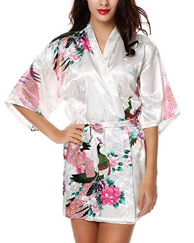 Avidlove - Kimono de Mujer para Pavo Real y Flores