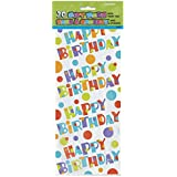 Unique Party Sacs Cellophane avec motif Happy Birthday pour Lot de 20, Bunt, Taille unique