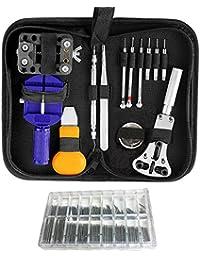 300pcs Juego de kit de herramientas de reparación de relojes Back Case Opener Ajustador Remover Primavera Pin Bar Kit de herramientas de relojero