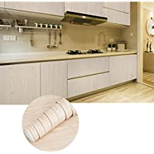 KINLO Vinilo PVC 0.61 x 5M Pegatina Autoadhesivo Papel Pegatina Madera de Cocina Muebles Cristal Pared Resistente a Agua Renovar y Decorar su Casa - Tipo A