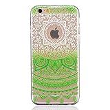Funda Carcasa iPhone 6 6S, MUTOUREN Funda Bumper Funda de Amortiguación y Anti-Arañazos Espalda Case Cover para Apple iPhone 6/6S- verde datura
