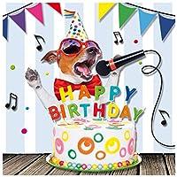 """'SUSY CARD 40010625Carte d'anniversaire""""Chantant chien Dimensions: 15x 0, 2cm"""