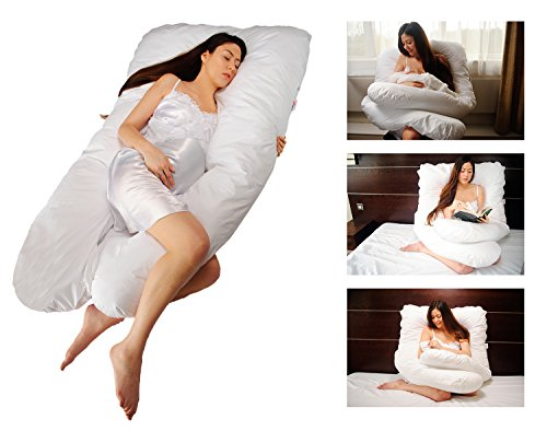 Sanggol® Maternity Pillow, Maternity Support Pillow, Pregnancy Pillow, Pregnancy Support Pillow, Nursing Pillow, Snuggle Up Body Pillow with Zipped Luxurious Cotton Pillow Case
