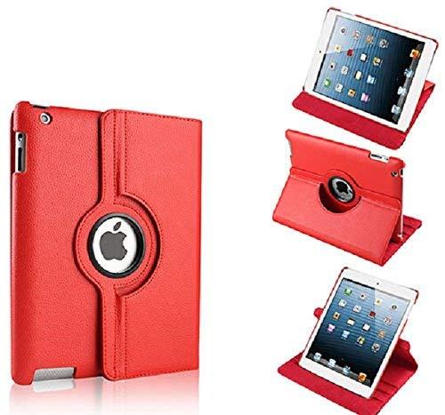 A R Premium 360drehbar PU Leder mit Auto Sleep Wake Funktion Multifunktions-PU Leder Ständer/Schutzhülle/Cover für ipad2ipad3iPad3rot