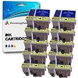 20 Compatibles Epson T066 T067 Cartuchos de tinta para Epson Stylus C48 C48UX - Negro/Color, Alta Capacidad