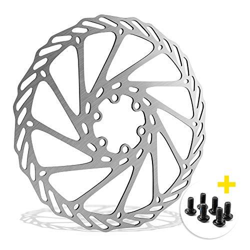 Disco freno per bicicletta, 180 mm, 6 fori, compatibile con Avid, Magura, Hayes, Tektro, Shimano ecc.