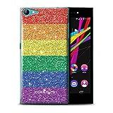 Personalisiert Benutzerdefinierte LGBT Gay Pride Hülle für Wiko Highway Star 4G / Gedrucktes Glitter Stampel Design/Initiale/Name/Text Schutzhülle/Case/Etui