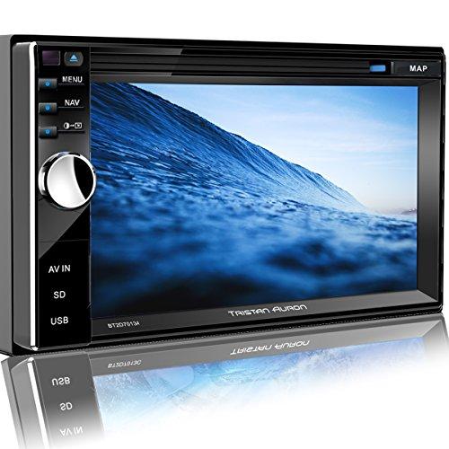 Tristan Auron BT2D7013A Autoradio mit GPS Navi, 6,5'' Touchscreen Bildschirm, WebLink, Bluetooth Freisprecheinrichtung, USB I SD, CD I DVD, DAB+ Lenkradsteuerung Rückfahrkamera 2 DIN Auto Radio