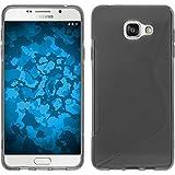 Coque en Silicone pour Samsung Galaxy A3 (2016) A310 - S-Style gris - Cover PhoneNatic Cubierta + films de protection