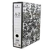 400140 - Pack de 2 Archivadores con caja A-Z, tamaño folio, con 2 anillas y palanca (2 unidades)
