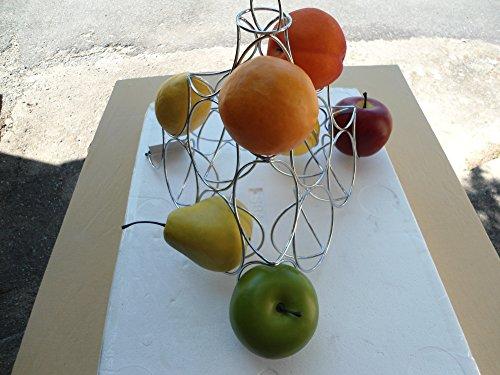 PORTE-FRUITS - PYRAMIDE MÉTAL CHROME