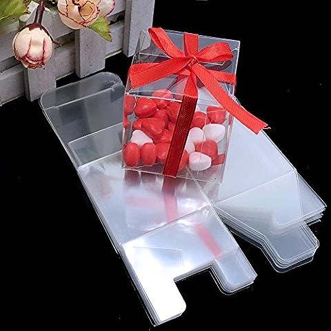 Yalulu 50 x Mini Bonbonnière Boîte de Bonbons Chocolat en