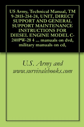 US Army, Technical Manual, TM 9-2815-254-24, UNIT, DIRECT SUPPORT AND GENERAL SUPPORT MAINTENANCE INSTRUCTIONS FOR DIESEL ENGINE MODEL C-240PW-28 4 CYLINDER ... military manuals on cd, (English Edition)