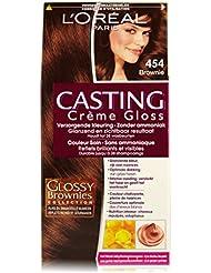 L'Oréal Paris Casting Crème Gloss 454Acajou Cuivre Brownie Brown–Coloration moyens